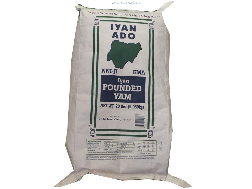 Iyan Ado Pounded Yam 20lb  /   10 bags up