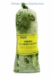 JKUB Cassava Leaves 30  /   2.25lb Frozen