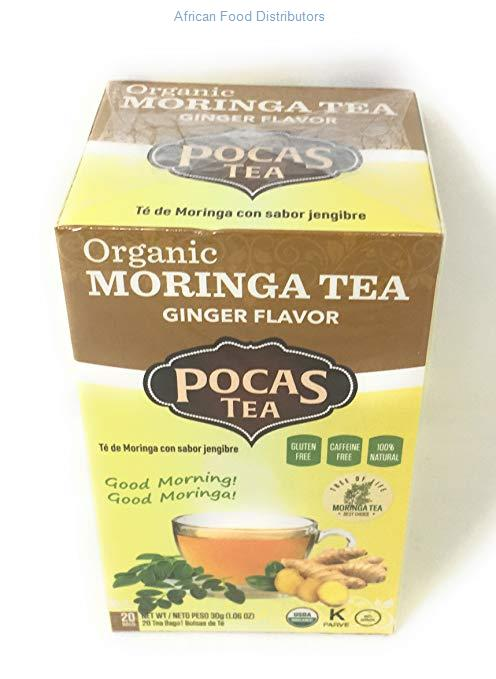 Pocas Moringa Tea With Ginger (Organic) 6pk  /  1.5g  /  24