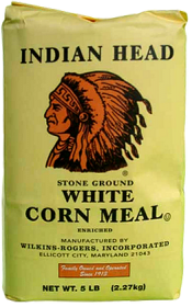 Indian Head White Corn Meal 50lb